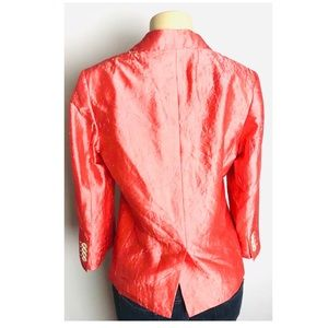 Talbots Jackets & Coats - Talbots Blazer Size 10 Peach Crush Silk 2 Button